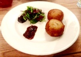 Salmon & cod fish cakes with chef's chilli jam