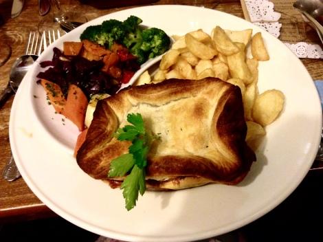 Steak, Mushroom and Felinfoel Ale Pie