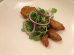 Lamb sweetbreads, scrumpets, sauce gribiche