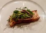 Chicken liver parfait, ciabatta, beetroot salad, rocket and walnut pesto