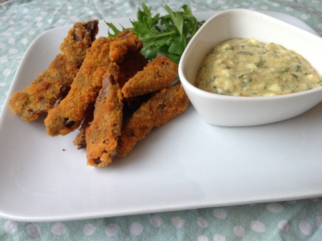 lamb breast goujons